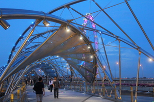 Helix Bridge, designed from human DNA