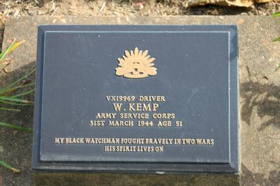 Tombstone of W.Kemp Kanchanaburi, Thailand