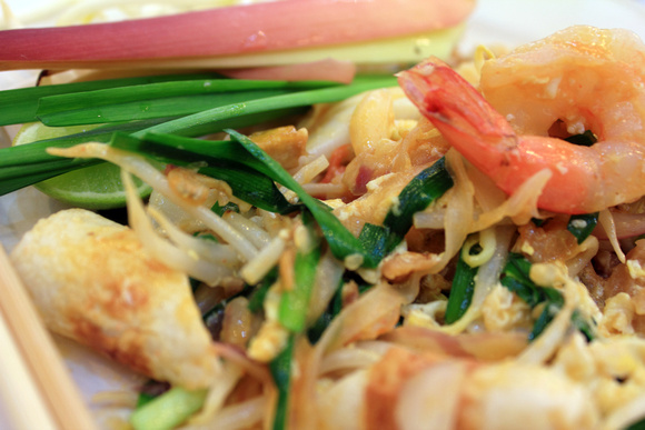 Close up of Pad Thai from Thailand