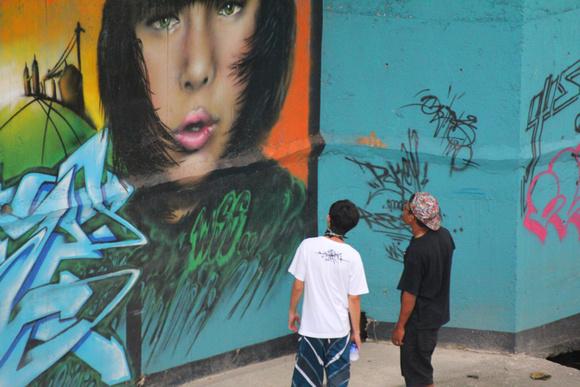 Street Art on display in Kuala Lumpur