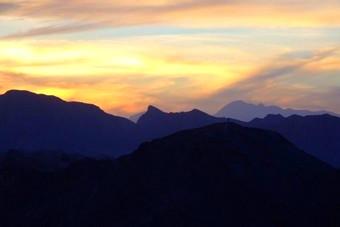 sunset in iran