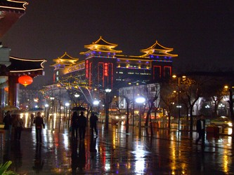 Xi'an China at night