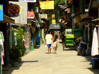 Downtown street in El Nido, Palawan