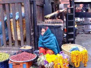 Flower stall, Kathmandu, Nepal