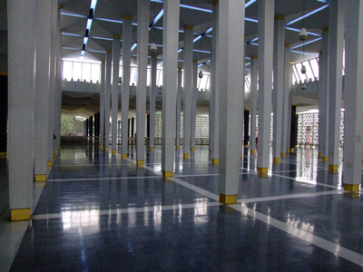 Inside the National Mosque of Malaysia