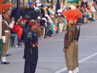 Pakistan and India for head to head at the Wagah Border ceremony