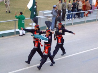The Pakistani Flag gets taken home, at the Wagah Border Ceremony