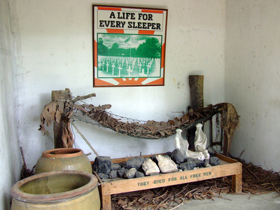 Bed from Penang's open war museum