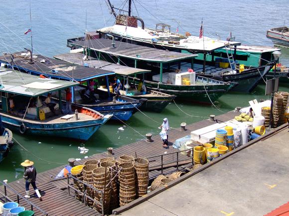 Boats at Sandakan, Sabah