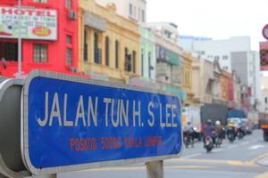 Street sign in Kuala Lumpur