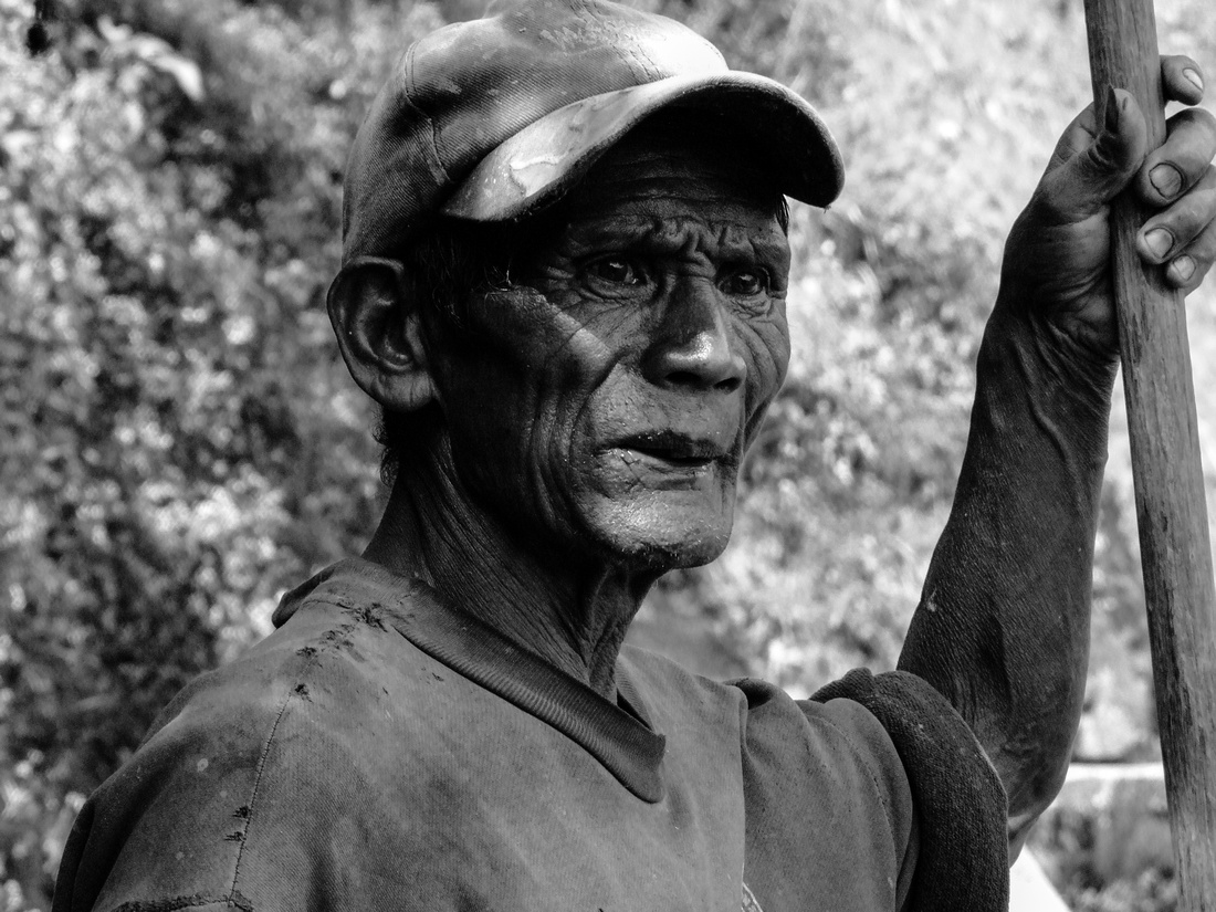 Ifuago man from the rice terraces of Northern Philippines