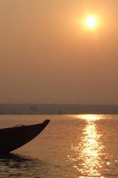 Sunset on the Ganges India