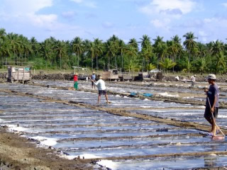 Salt makers in the Philippines