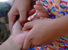 Blind hand massage
