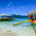 Local Boats (Bankas) on a beach - The Philippines