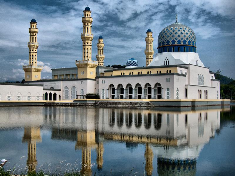 Kota Kinabalu Malaysia  city photo : City Mosque in Kota Kinabalu, Sabah, Malaysia click to enlarge, HDR